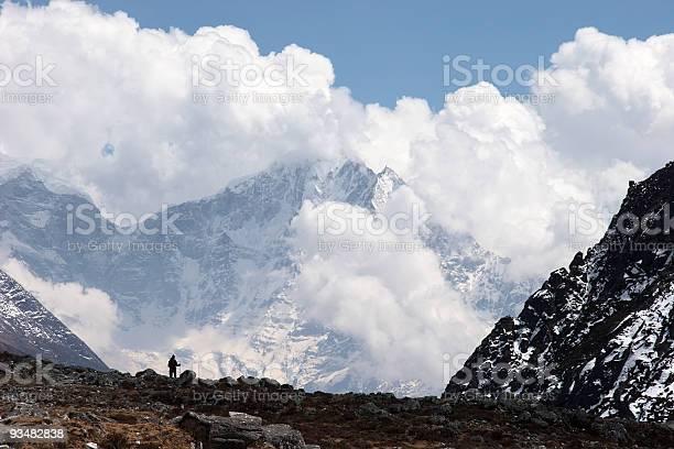 Himalaya 구름 풍경 네팔 겨울에 대한 스톡 사진 및 기타 이미지