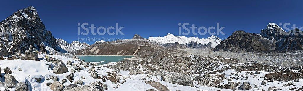 Himalaya-Gletscher peaks panorama Cho Oyu See Gokyo Lake Nepal – Foto