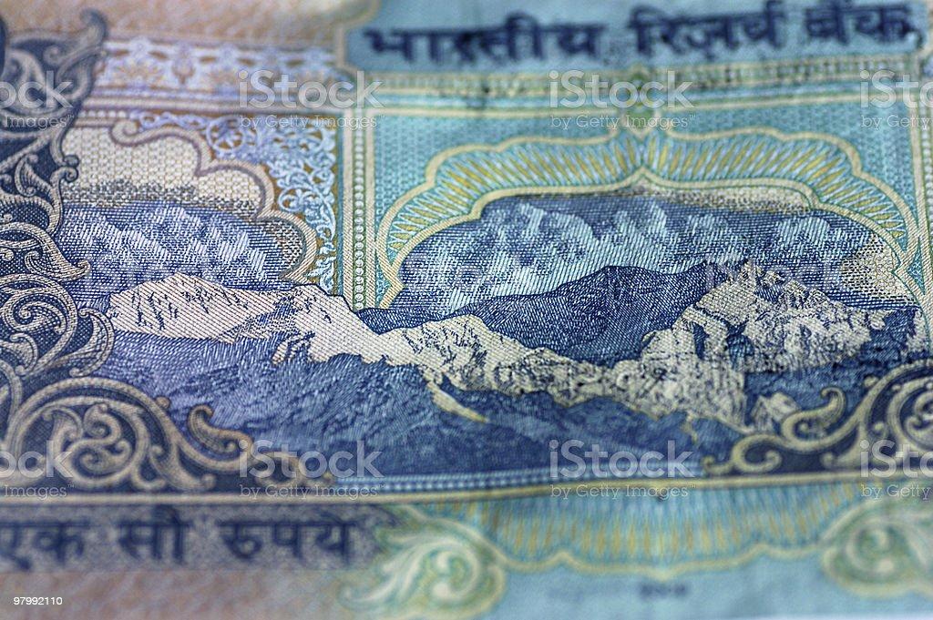 Himalaya Indian banknote royalty-free stock photo