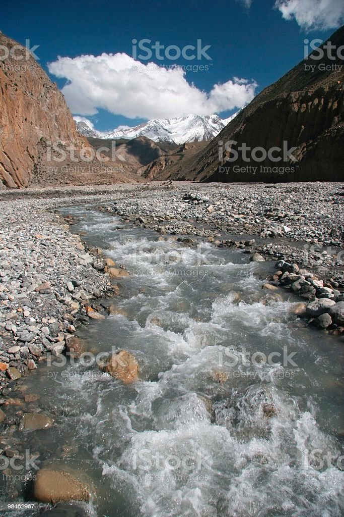 Himalaya Mountain Creek royalty-free stock photo