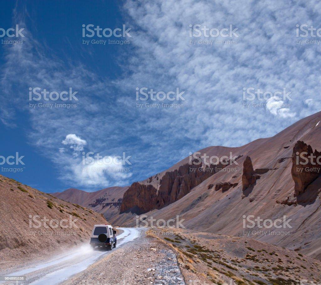 Himalaya mountain landscape at Manali - Leh highway, North India royalty-free stock photo