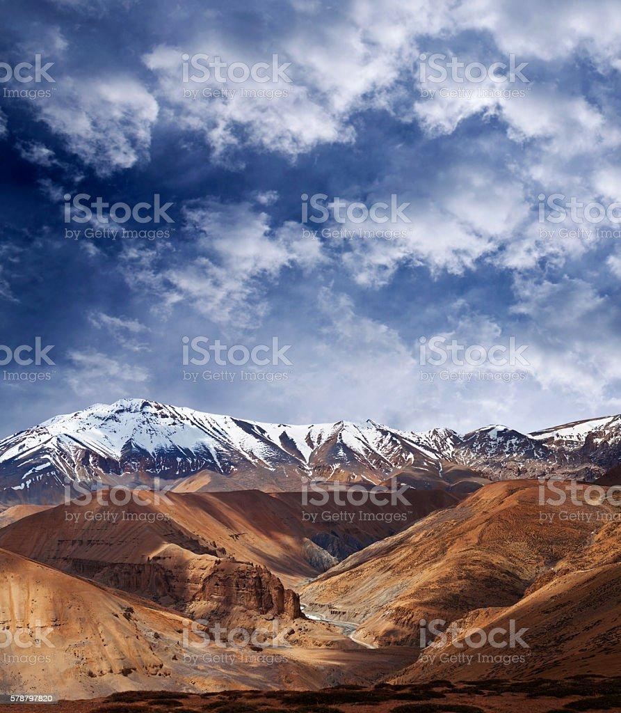 Himalaya mountain landscape in Ladakh, India stock photo