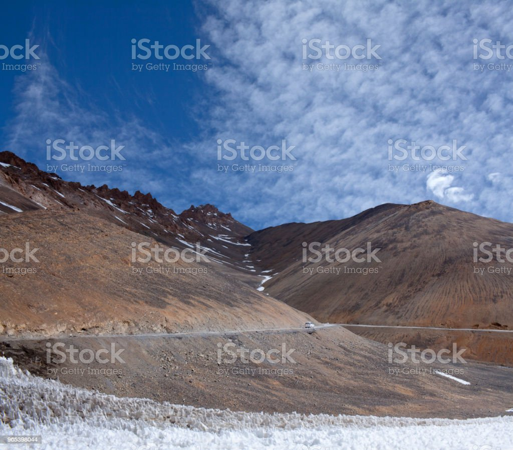 Himalaya mountain pass in Ladakh, Jammu and Kashmir, North India royalty-free stock photo