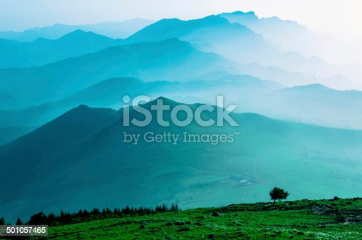 174963269 istock photo Himalaya Mountains Covered in Mist and Fog 501057465