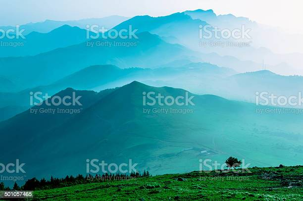 Photo of Himalaya Mountains Covered in Mist and Fog