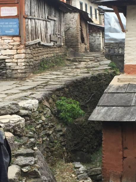 Himalayan Hiking Trail stock photo