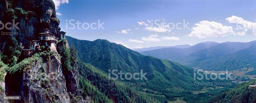 Himalayan Kingdom of Bhutan stock photo