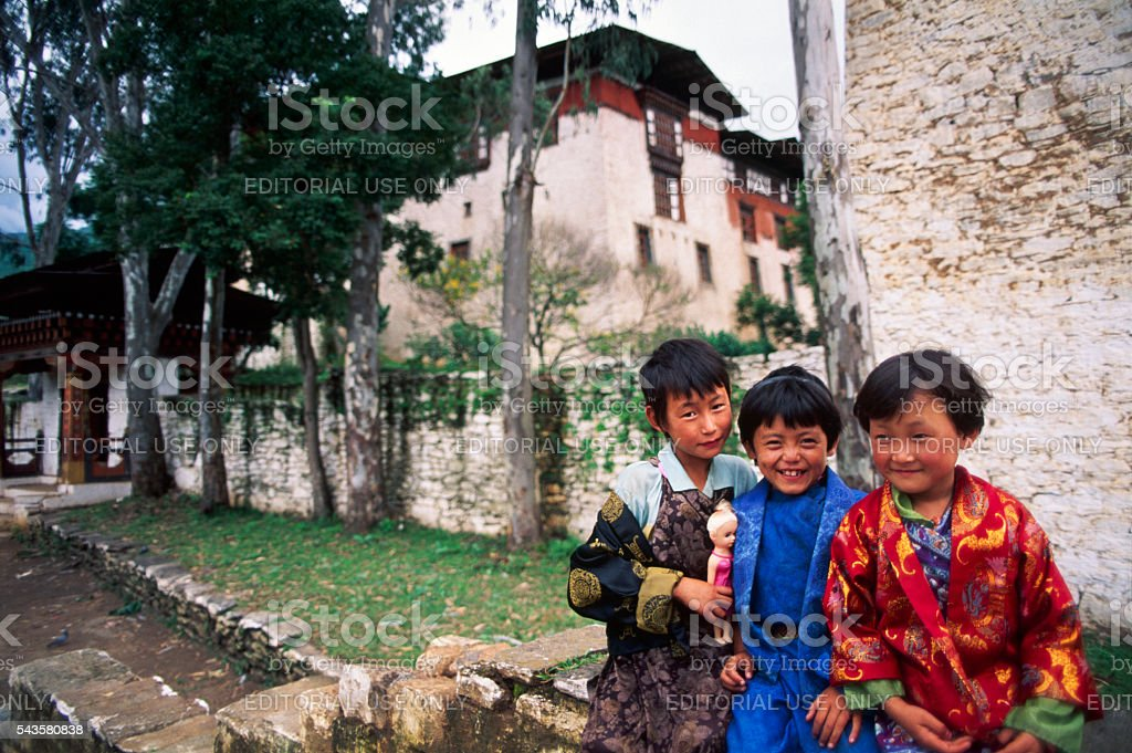 Himalayan Kingdom of Bhutan stock photo