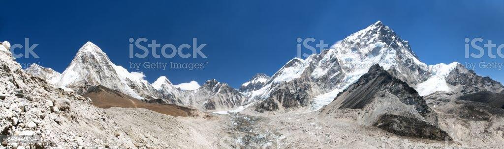himalayan mountain range near Mount Everest stock photo