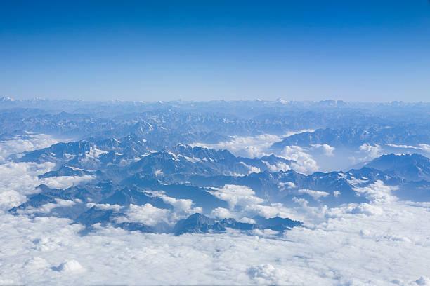 Himalayan Mountains stock photo