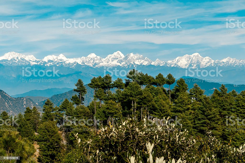 Himalayan Panorama stock photo