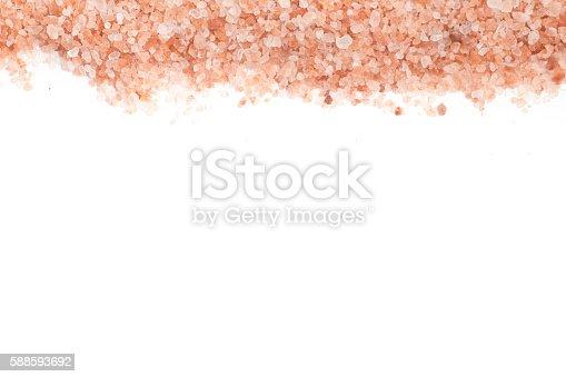 istock Himalayan pink salt frame 588593692