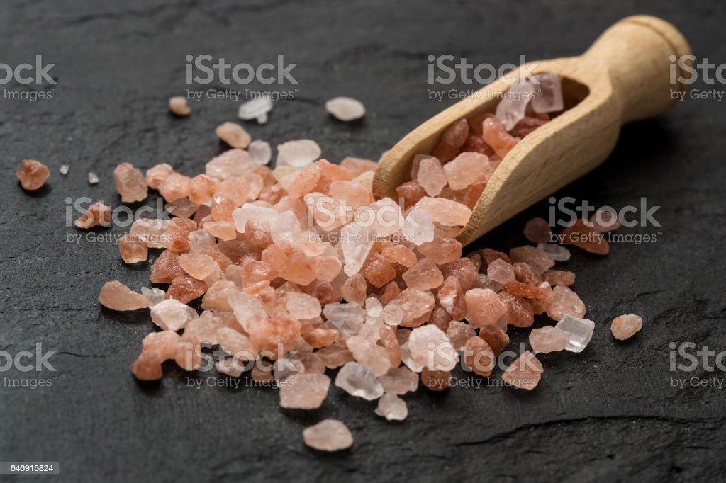 Himalayan salt stock photo
