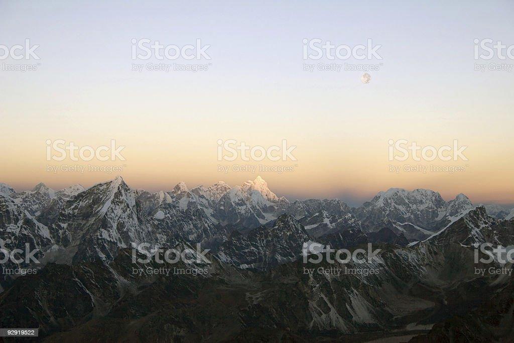 Himalayan Sunrise - Nepal royalty-free stock photo