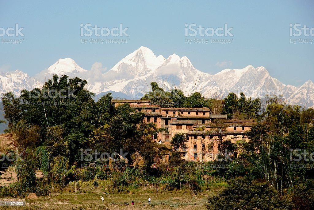 Himalayan Town 2 royalty-free stock photo