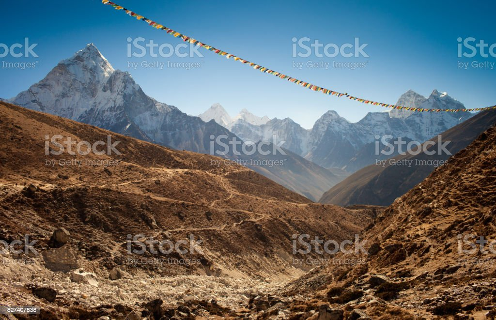 Himalayan trail stock photo