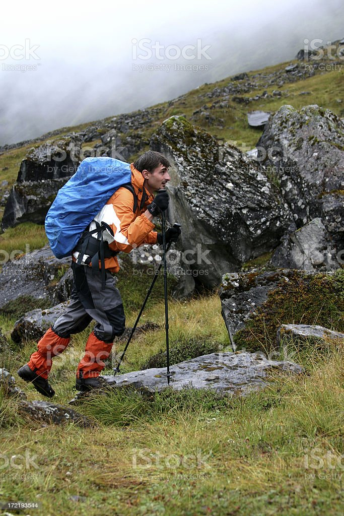 Himalayan trekking/hiking royalty-free stock photo