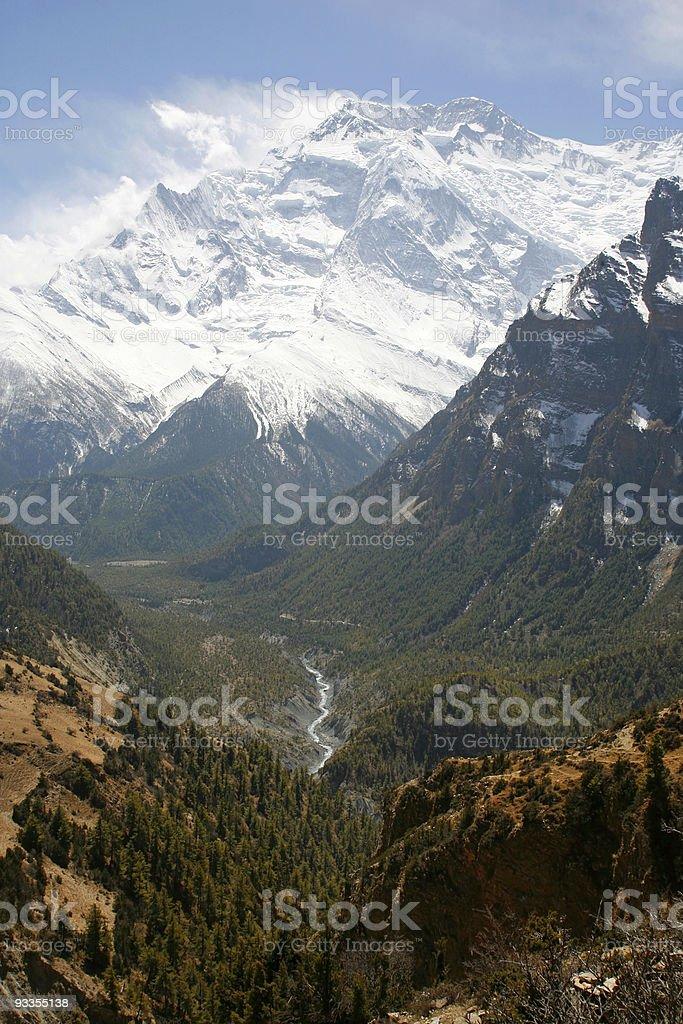 Himalayan valley royalty-free stock photo