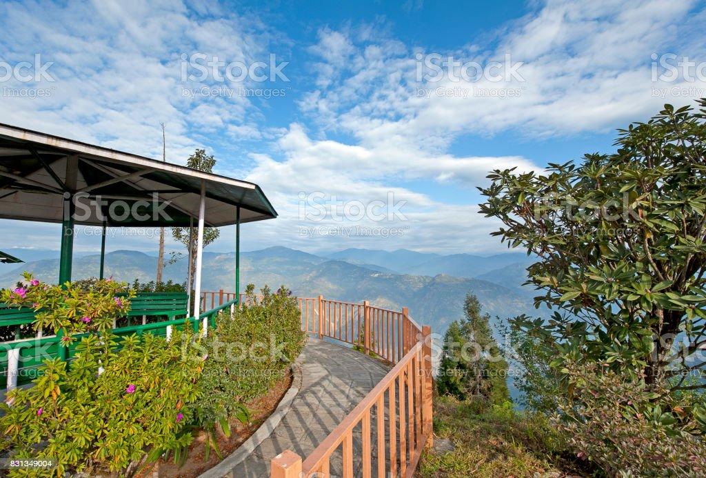 Himalayan view, Kalimpong, West Bengal, India stock photo