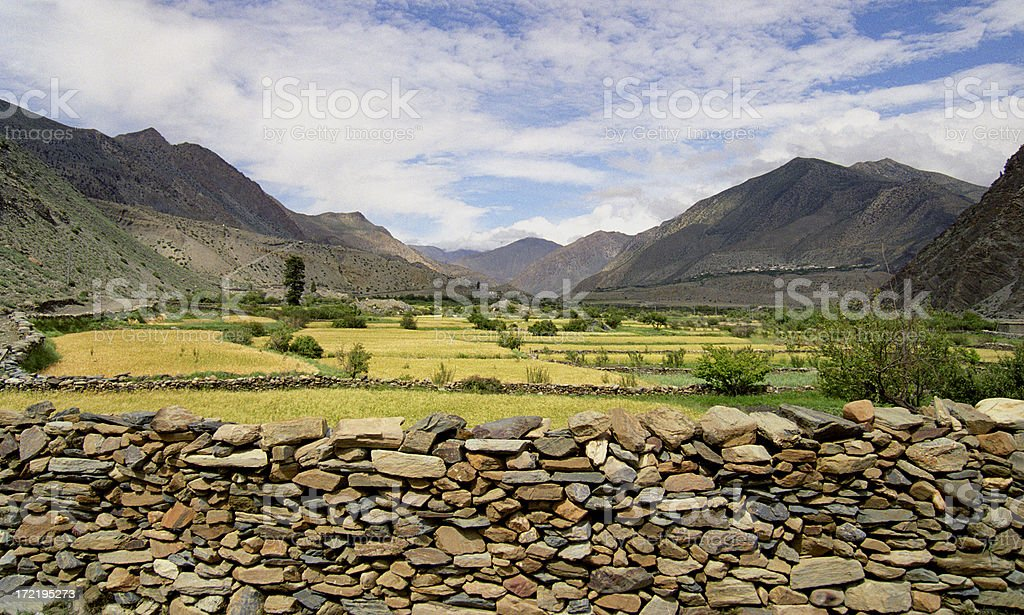 Himalayan View royalty-free stock photo