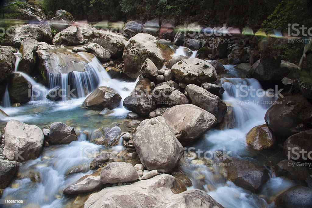 Himalayan water on the rocks. royalty-free stock photo