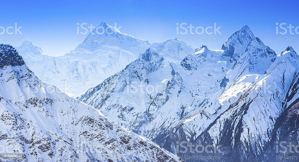 Himalayas mountain landscape stock photo