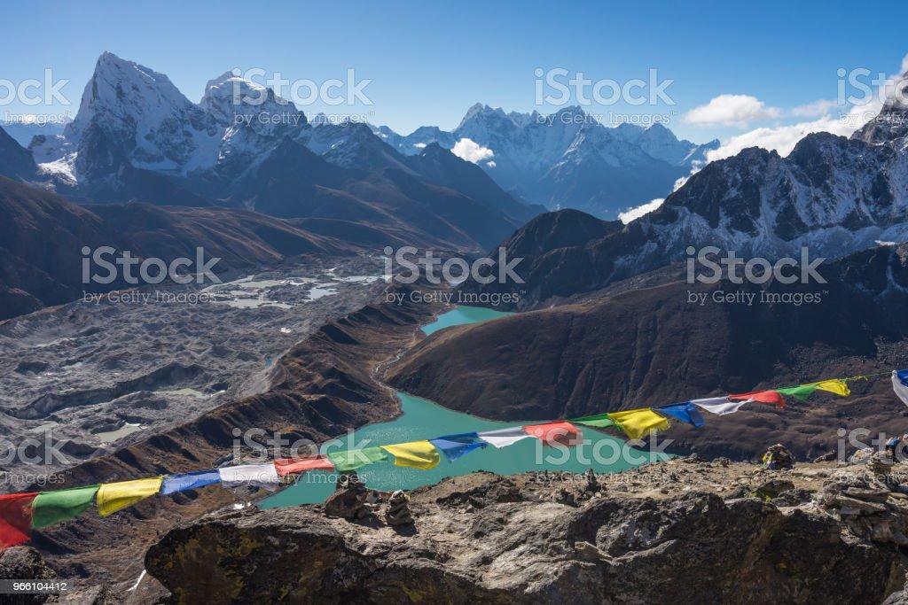 Himalayas mountain range view from top of Gokyo Ri, Everest region, Nepal - Royalty-free Adventure Stock Photo