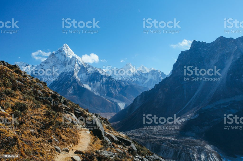 Himalayas stock photo