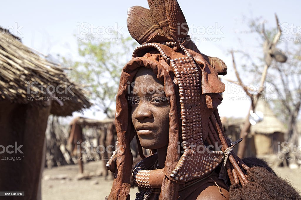Himba Bride. Namibia. stock photo