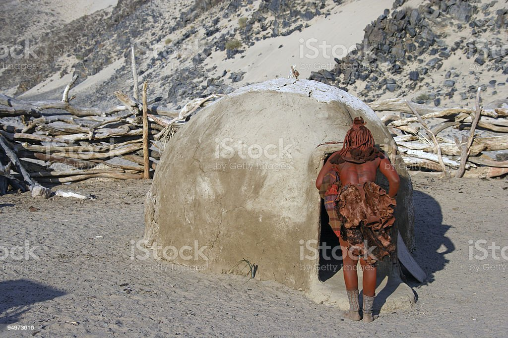 Himba Village royalty-free stock photo