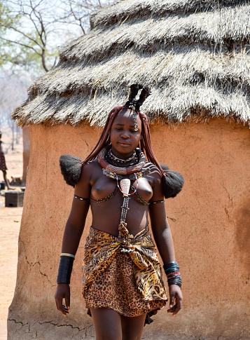 Himba Woman Namibia Southern Africa Stock Photo, Royalty