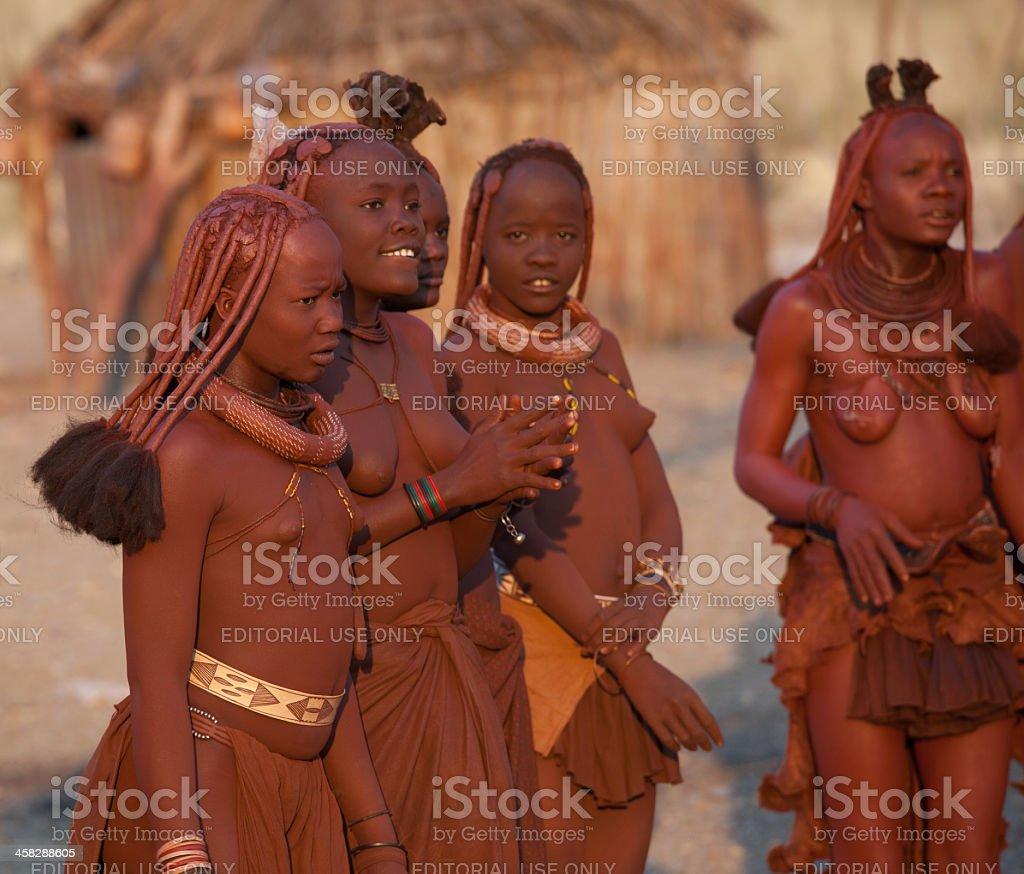 Himba Woman Smoking Pipe Namibia Stock Photo - Download