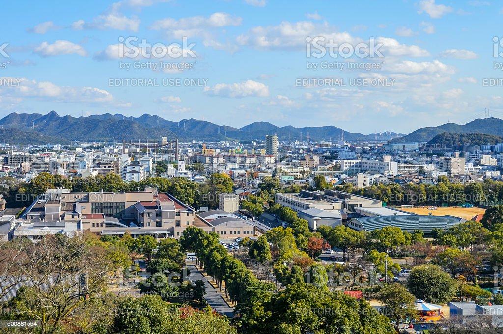Himeji CIUDAD-japonés de la ciudad - foto de stock