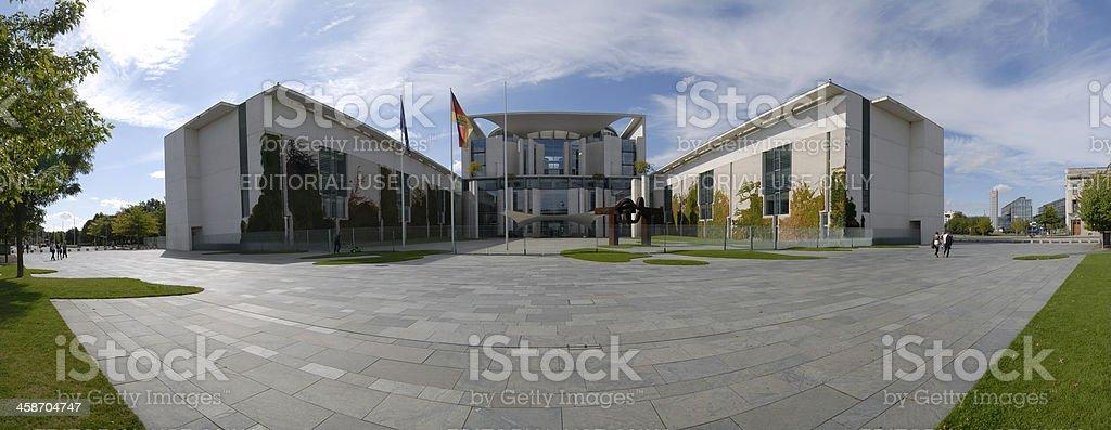 Himmel uber Berlin Panorama - Bundeskanzleramt, The Chancellery stock photo