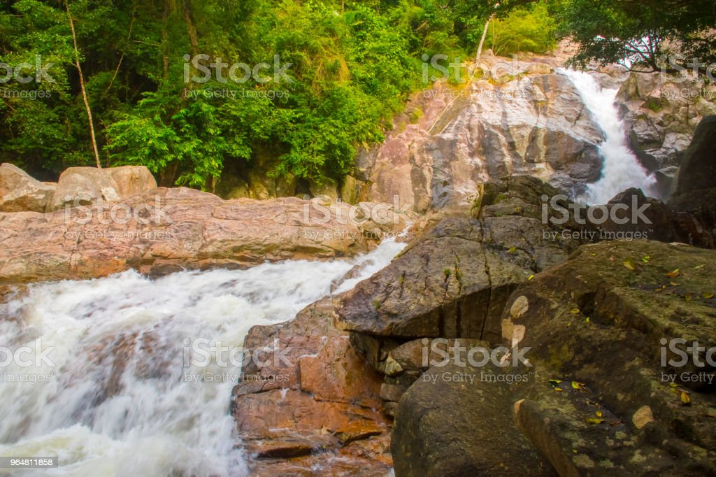 Hin Lat Waterfall, Koh Samui, Thailand royalty-free stock photo