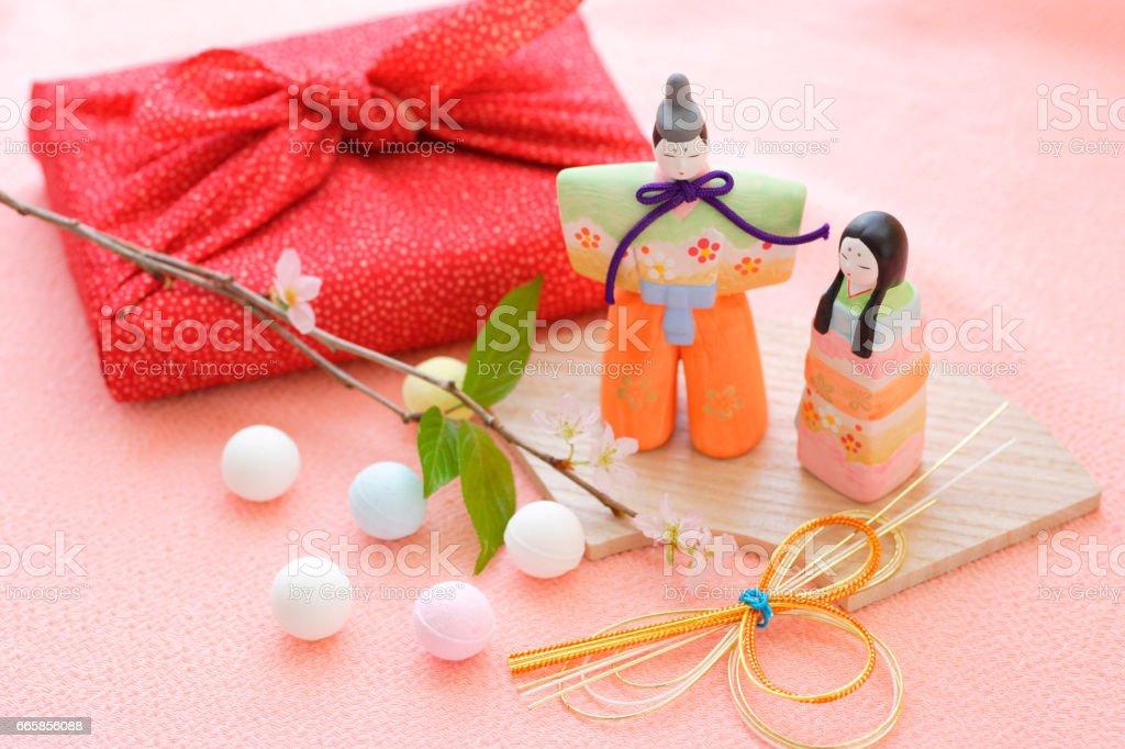 Hina dolls stock photo