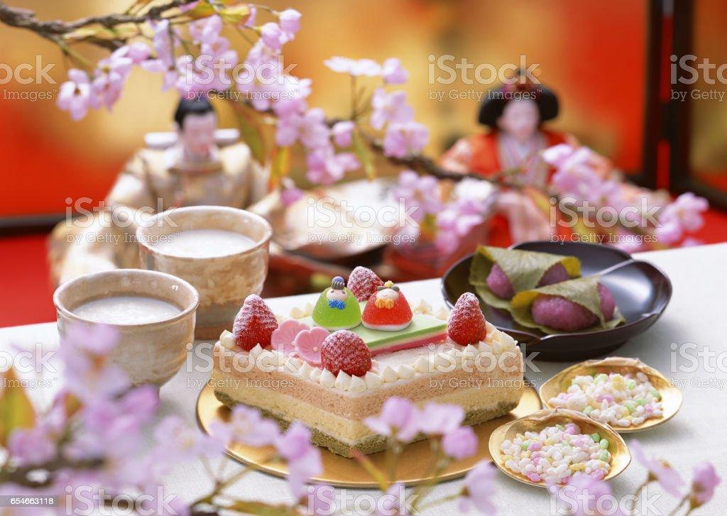 Hinamatsuri party stock photo
