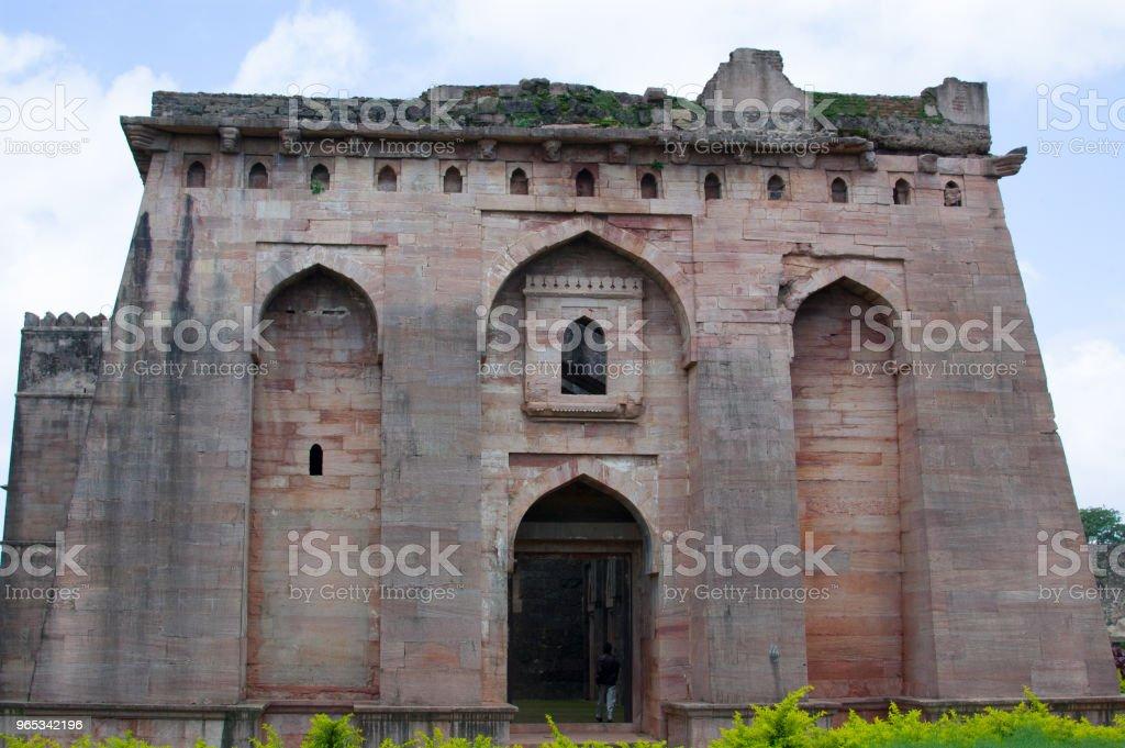 Hindola Mahal, Jahaz Mahal, Mandu, Madhya Pradesh, India zbiór zdjęć royalty-free