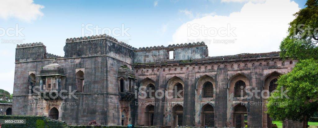 印度中央邦曼杜 Jahaz 泰姬陵 Hindola 泰姬陵 - 免版稅中央邦圖庫照片