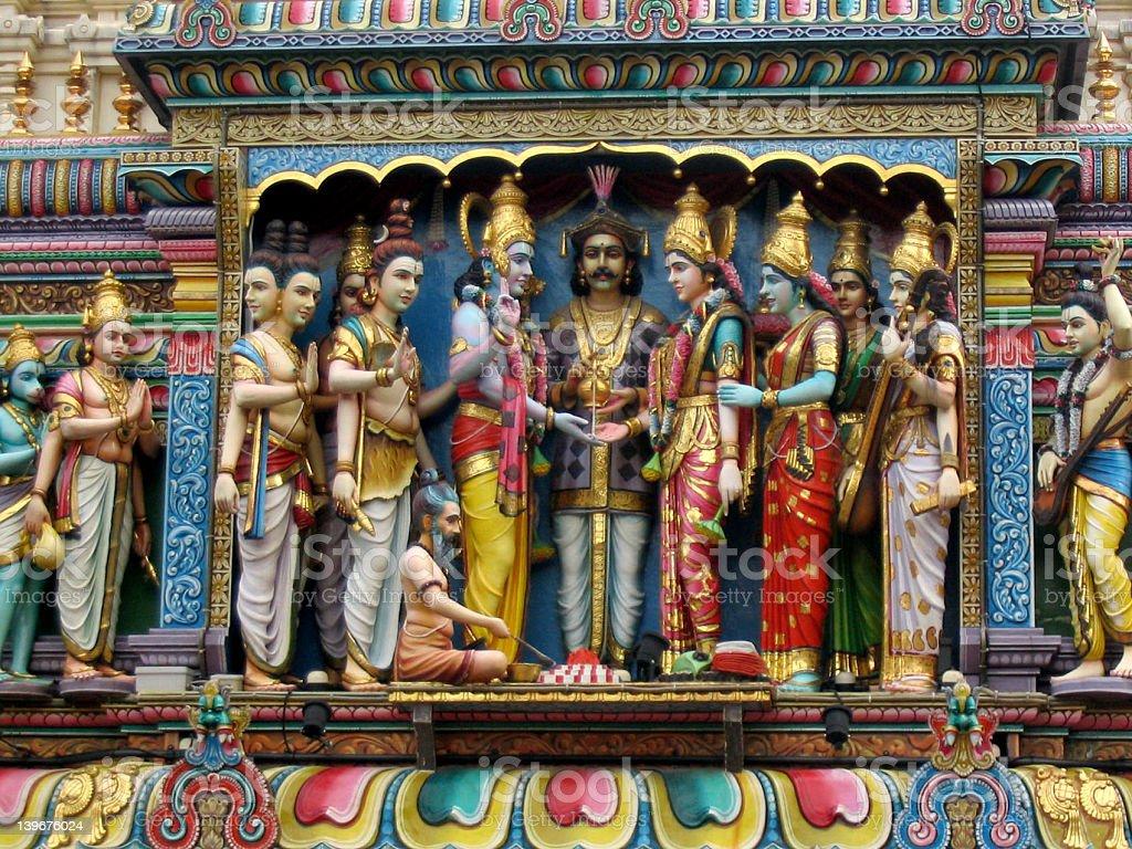 Hindu Building Figures stock photo