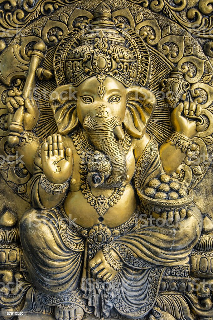 Hindu God Ganesh - Stock image stock photo