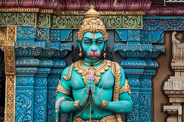Hindu God - Hanuman in folded hand Hindu God - Hanuman - in folded hand hanuman stock pictures, royalty-free photos & images