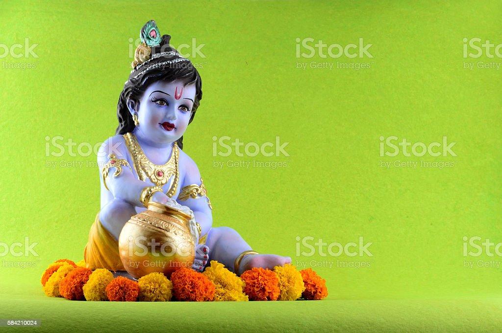 Hindu God Krishna stock photo