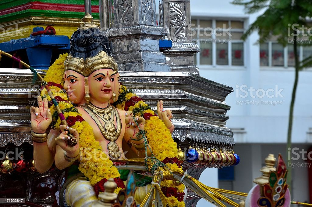 Hindu god on vehicle for procession at festival royalty-free stock photo