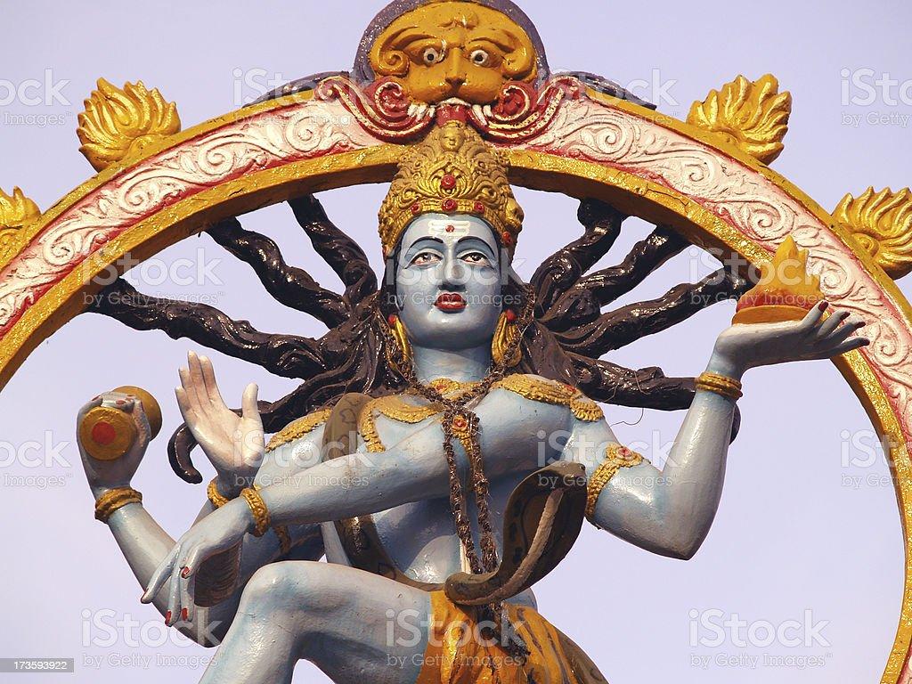 Hindu God Shiva royalty-free stock photo