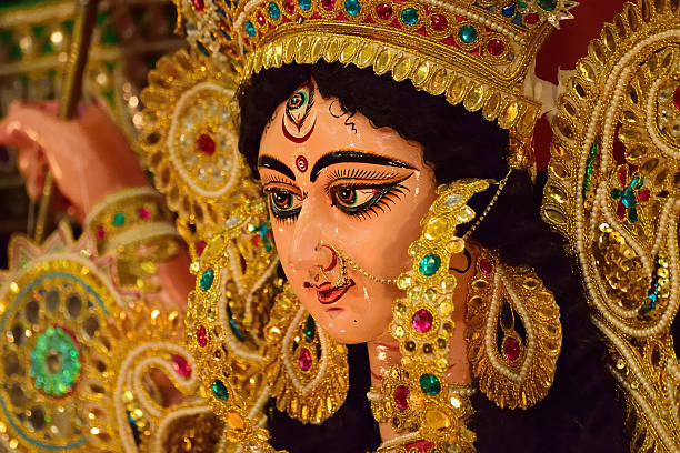 Hindu Goddess Durga stock photo