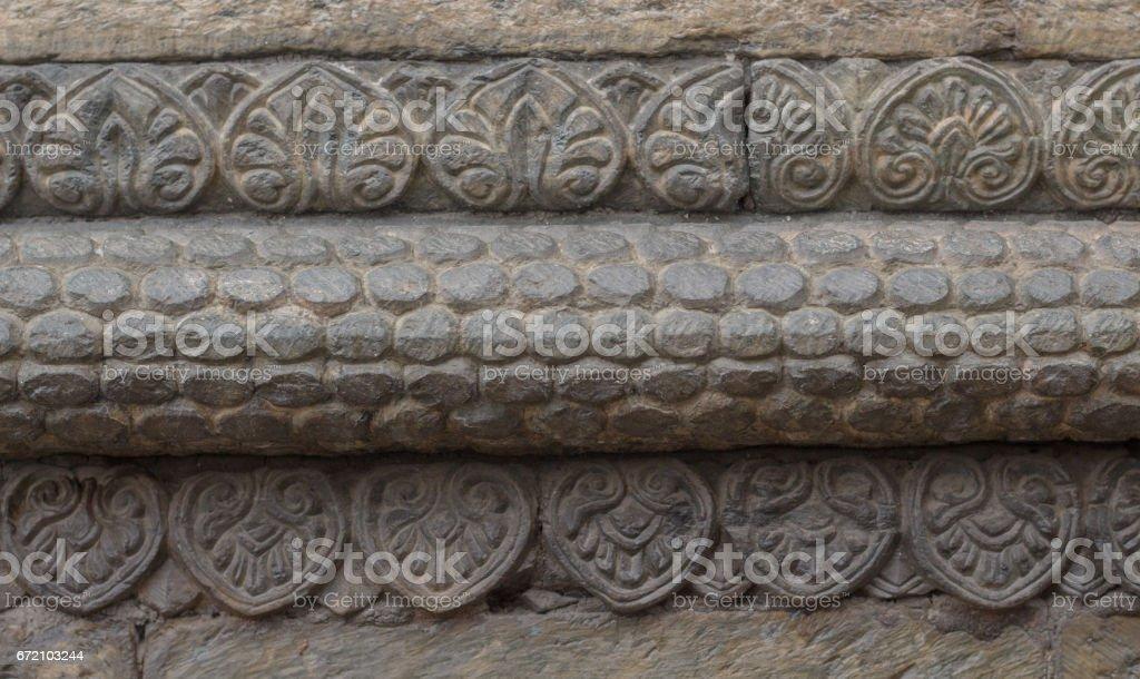 Hindu Goddess Stone Statue stock photo