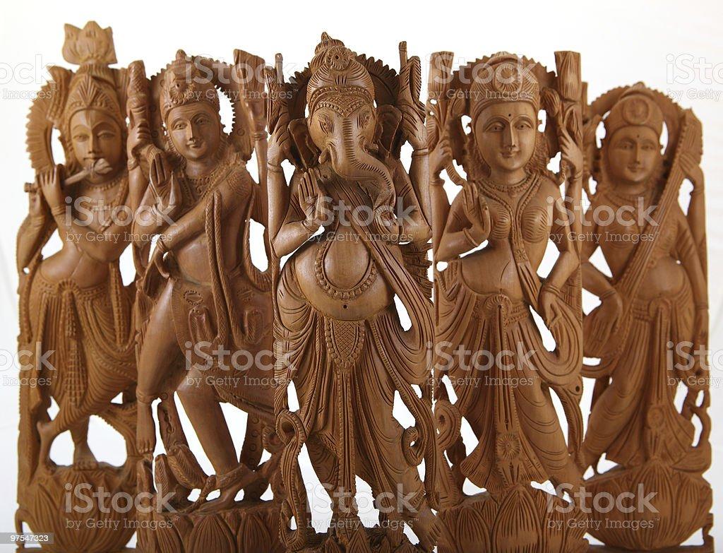 hindu gods&goddesses royalty-free stock photo