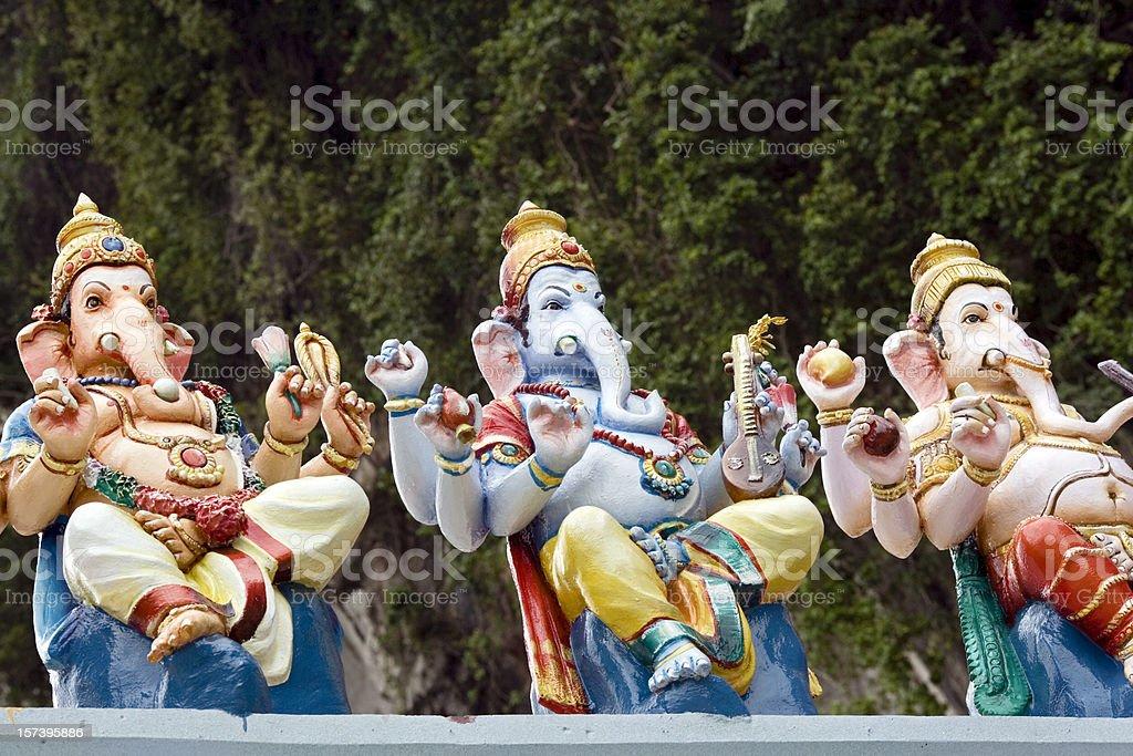 Hindu idols at Batu Caves (Kuala Lumpur, Malaysia) royalty-free stock photo