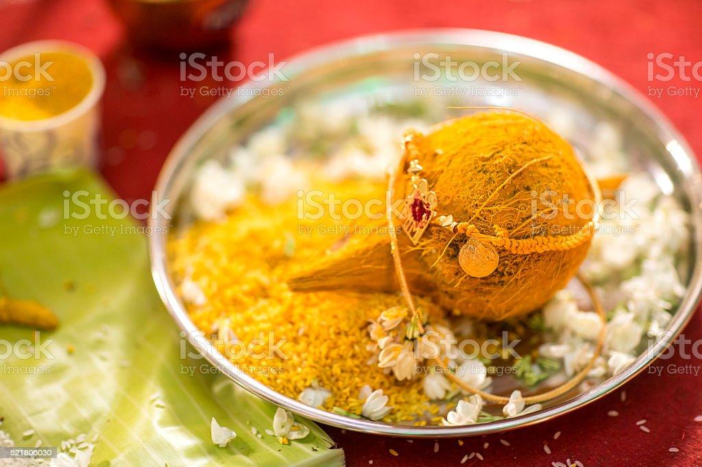 Hindu Indian wedding ceremony stock photo